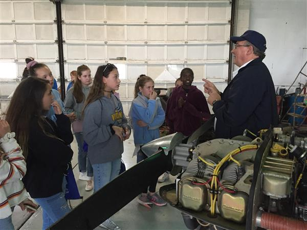 Readington Middle School Students Visit Solberg Airport