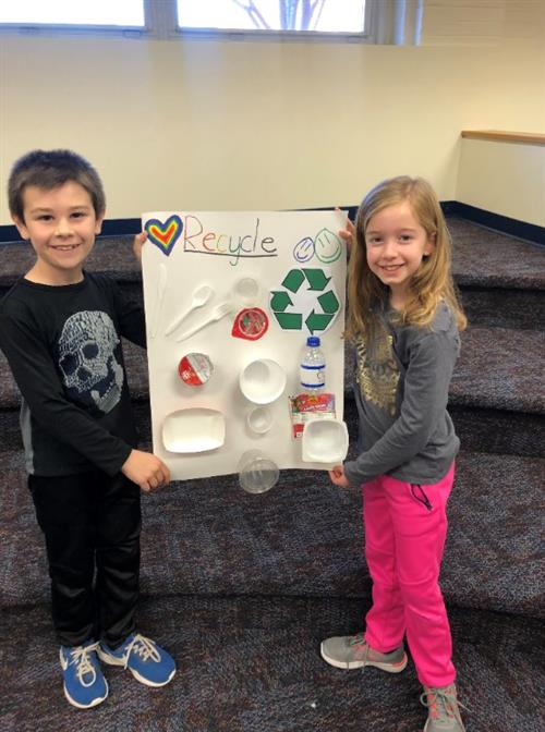 Recycle Day at Three Bridges School